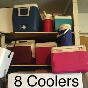 8 Coolers Varies Sizes. $20 for All! Must pick up by Wednesday 2/26! for Sale in Pembroke Pines, FL