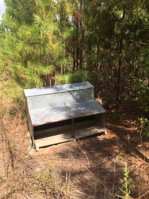 Old hog feeder. , has separate places for like-crept feeding piglets. ! $ 75.00 offers considered. for Sale in Rockledge, GA
