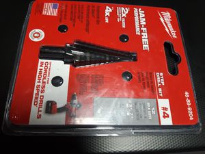 Milwaukee 3/16 in. - 7/8 in. x 1/16 in. #4 Step Black Oxide Drill Bit NEW for Sale in Seattle, WA