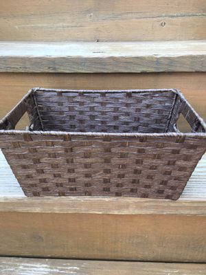 "Handwoven Rectangular Woven Basket - 11.5 x 5 x 7.5"" - Excellent Condition for Sale in Chicago, IL"