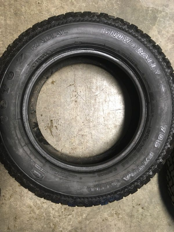 (2) Studded Tires