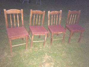 Four wooden chairs used for Sale in Murfreesboro, TN