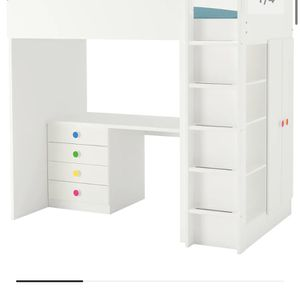 Kids Bed With Mattres & Desk (stuva) IKEA for Sale in San Diego, CA