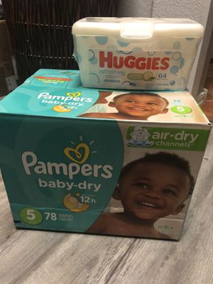 Pampers size 5 for Sale in Phoenix, AZ