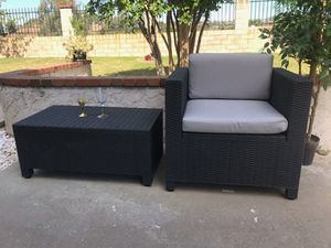 Modern Wicker Set Chair & Table Brand New for Sale in Walnut, CA