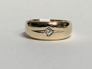 Men's Diamond Solitaire Ring 10k YG Sz 9.5 for Sale in Marietta, GA