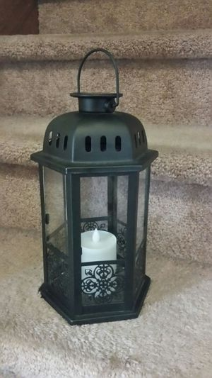 LED Solar or Battery Candle in Lantern very beautiful indoor or outdoor patio porch decor for Sale in Dearborn, MI