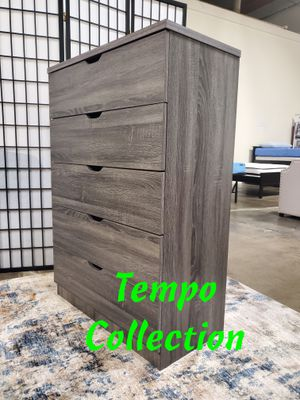 NEW, 5-Chest Drawer, Distressed Grey, SKU# K16068 for Sale in Santa Ana, CA