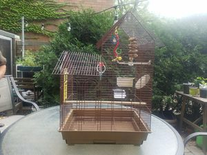 Bird cage large toys bell water bath for Sale in Chicago, IL