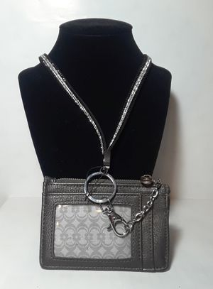 Kn1000 deluxe lanyard with clip on zippered wallet for ID money change credit cards like new condition for Sale in Southaven, MS