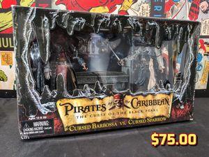 NECA Reel Toys Pirates of the Caribbean Cursed Barbossa vs. Sparrow Figures for Sale in Alameda, CA