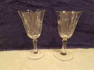 2x Princess house - etched crystal - Liqueur glasses - collectable vintage glass for Sale in Las Vegas, NV