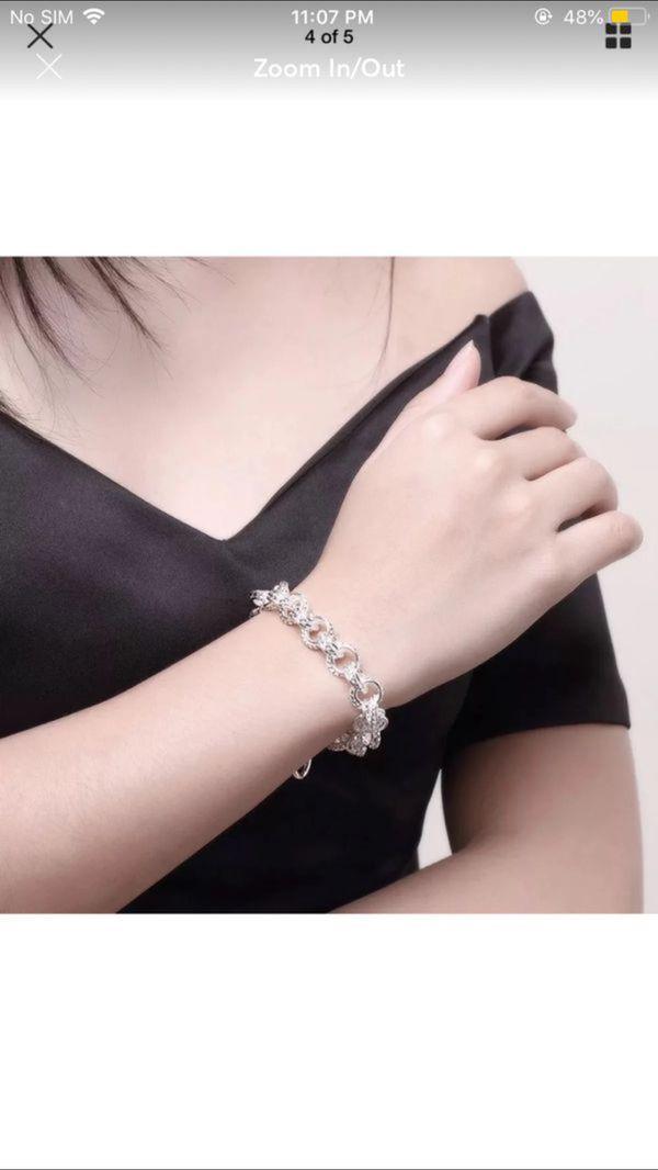 Sterling silver plated bracelet