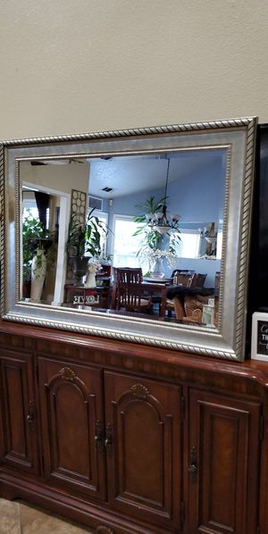 Large silver mirror $45 firm for Sale in Modesto, CA