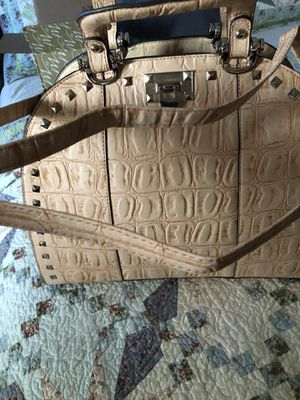 Brown/Cream Leather Big Purse for Sale in East St. Louis, IL