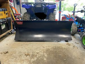 "Warn 60"" snow plow Yamaha grizzly for Sale in North Royalton, OH"