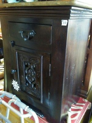 Small Table Bedside Nightstand with Drawer and Door and Inner Shelf for Sale in Westport, MA