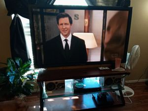 65 Panasonic tv with stand and speakers for Sale in Grapevine, TX