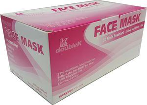 100Pcs Medical Surgical Grade Procedure Face Masks Earloop Face Mouth Masks 3ply Pink for Sale in La Verne, CA
