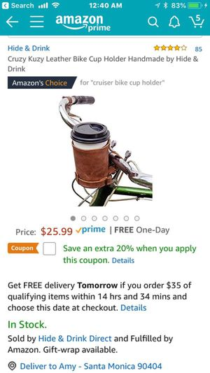 Never used, cup holder for bicycle for Sale in Los Angeles, CA