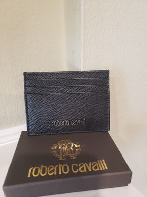 Brand new black leather Roberto Cavalli wallet for Sale in Los Angeles, CA