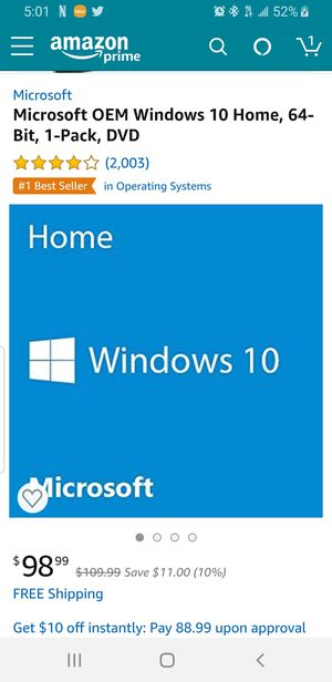 Windows 10 software for Sale in Miramar, FL