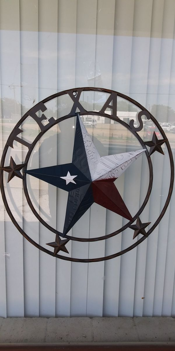 "New 24"" Metal Texas 🌟 Star"