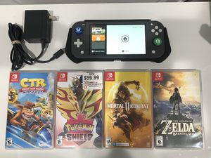 Nintendo switch Lite + case + 4 game $350.00 for Sale in Hialeah, FL