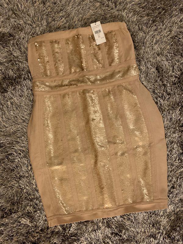 Woman Strapless Dress - XL - New