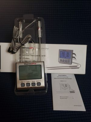 Dual Probe Digital Cooking Meat Thermometer for Sale in Barstow, CA