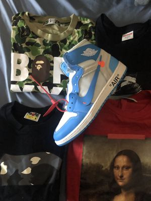 Bape t shirts off white for Sale in Stoughton, MA