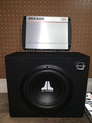 Amplifier: Kicker 400.4 and JBL Subwoofer for Sale in Tacoma, WA