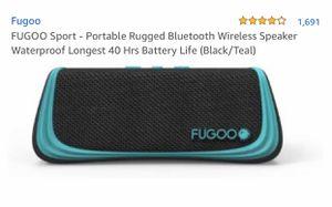 FUGOO Sport - Portable Rugged Bluetooth Wireless Speaker Waterproof Longest 40 Hrs Battery Life (Black/Teal) for Sale in Riverview, FL