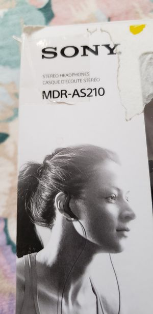 Sony MDR-AS210 Headset Headphones NEW open box, display model. for Sale in National City, CA