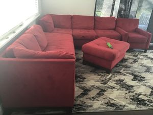 Sectional sofa & couches with square ottoman for Sale in Golden Oak, FL