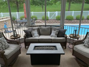 Agio Outdoor Furniture - couch and 2 swivel chairs for Sale in Fenton, MO