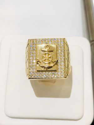 10Kt real gold men's anchor ring for sale with lifetime warranty! for Sale in Indianapolis, IN