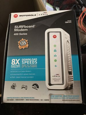 Motorola SB6141 cable modem available for sale for Sale in Jersey City, NJ