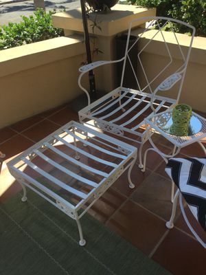 Vintage iron chair and ottoman for Sale in San Diego, CA