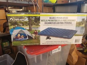 2 person blow up bed with Pump brand new for Sale in Westminster, CA