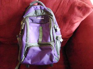New! PARA JOHN Rolling Backpack / Luggage! Purple & Grey! for Sale in Laguna Beach, CA