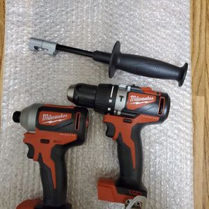BRAND NEW, 2902-20, 2850-20, Milwaukee M18 18-Volt Lithium-Ion Brushless Cordless 1/4 in. Impact Driver & drill (2Tool Only) for Sale in Vernon, CA