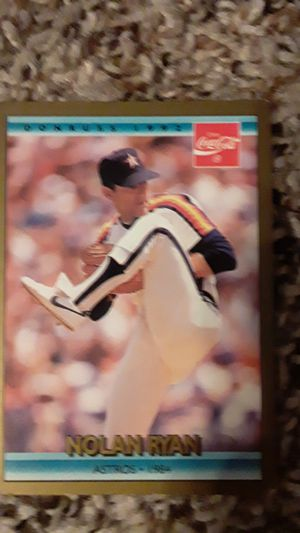 Nolan Ryan Baseball Card Astros 1984 for Sale in Fort Worth, TX