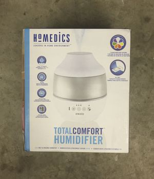 Homedics 0.5gal Cool Mist Ultrasonic Humidifier with Aroma White for Sale in Charlotte, NC