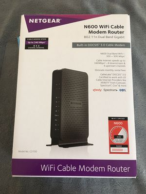 Netgear N600 wifi cable modem router for Sale in Katy, TX