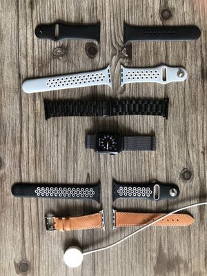 Series 2 Apple Watch 38mm & 6 Bands for Sale in Austin, TX
