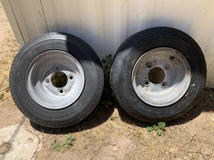 8 inch trailer tires and wheels 4 lug. for Sale in Peoria, AZ