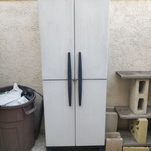 Free Plastic Storage Cabinet Cupboard Shed for Sale in Huntington Beach, CA