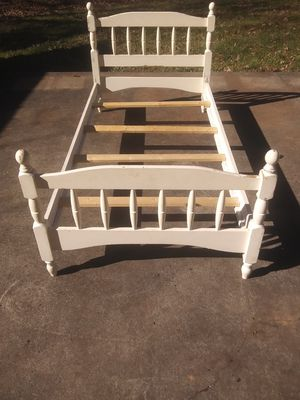 Wooden twin bed frame for Sale in Madison Heights, VA