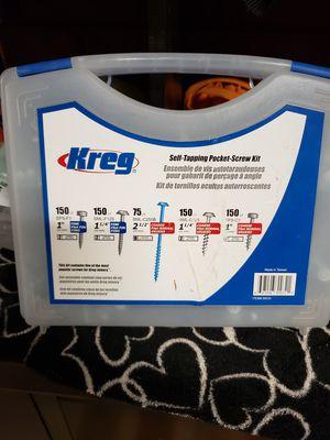 Kreg self tapping pocket screw kit for Sale in Glendale, AZ